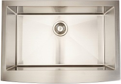 ZUHNE Prato 30 Inch Single Bowl Farm House Kitchen Sink