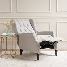 Christopher Knight Home Elizabeth Tufted Fabric Arm Chair