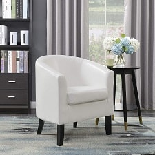 Belleze Club Chair Tub Faux Leather Armchair