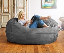 Lumaland Luxury 6-Foot Bean Bag Chair