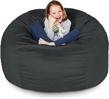 Lumaland Luxury 3-Foot Bean Bag Chair