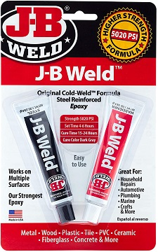 J-B Weld 8265S Original Cold-Weld Steel Reinforced Epoxy