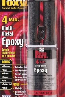 Permatex 84109 PermaPoxy 4 Minute Multi-Metal Epoxy