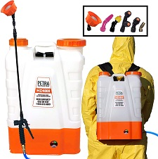 PetraTools 4 Gallon Battery Powered Backpack Sprayer